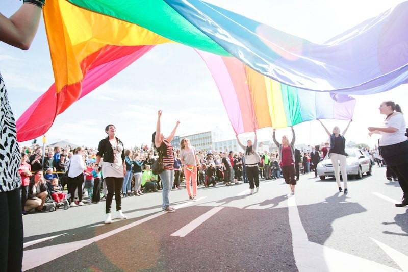 Reykjavik Pride Parade is always the second weekend in August