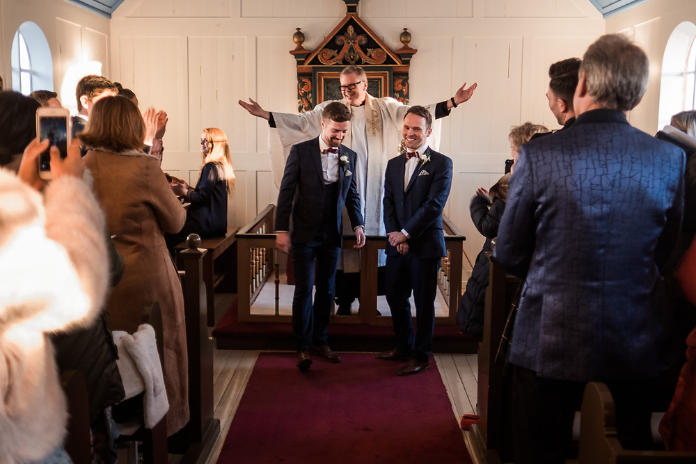 Same Sex Marriage in church in Iceland