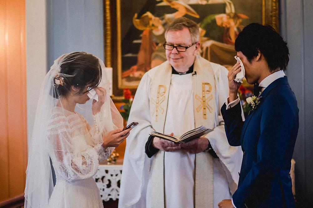 Pink Iceland Wedding photo from intimate Iceland Wedding in Strandakirkja with pastor Egill