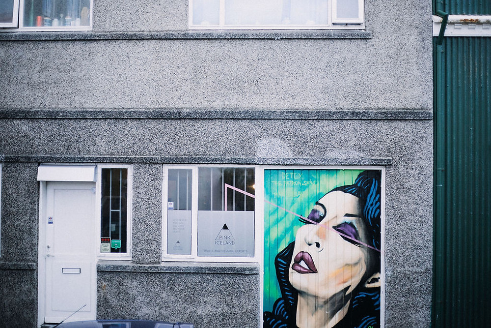 The Detox Mural at the Pink Iceland office in Reykjavik