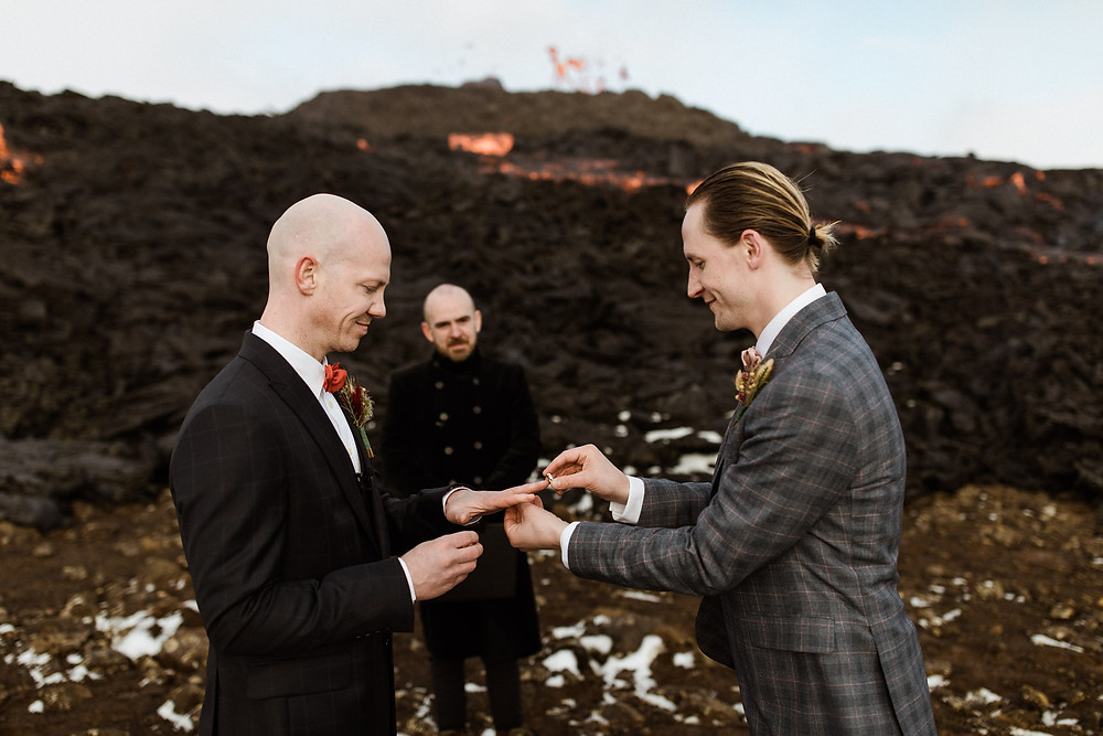 Fagradalsfjall volcano wedding planner by Pink Iceland