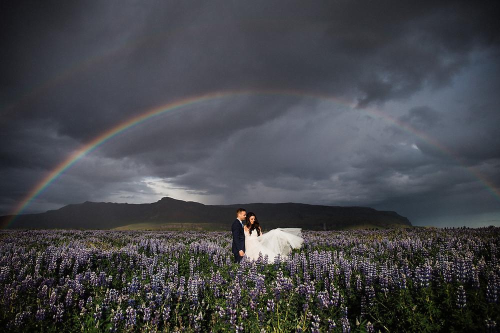 Summer solstice wedding in Iceland