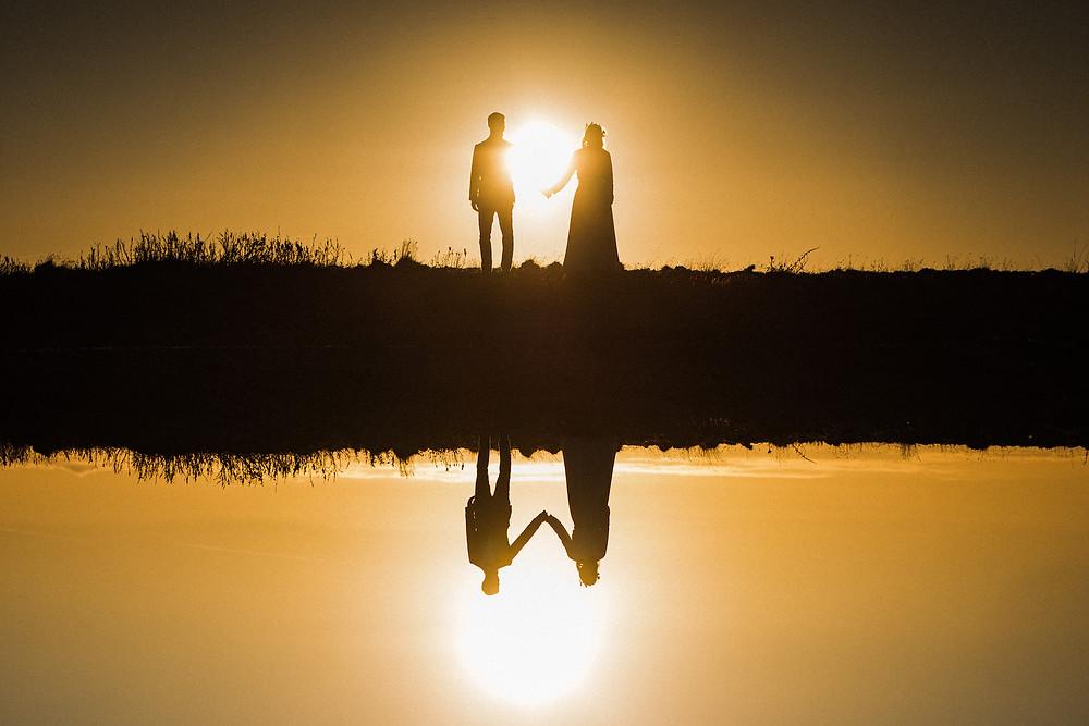 Midnight sun wedding in Iceland