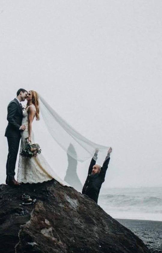 Iceland wedding photo in Reynisfjara