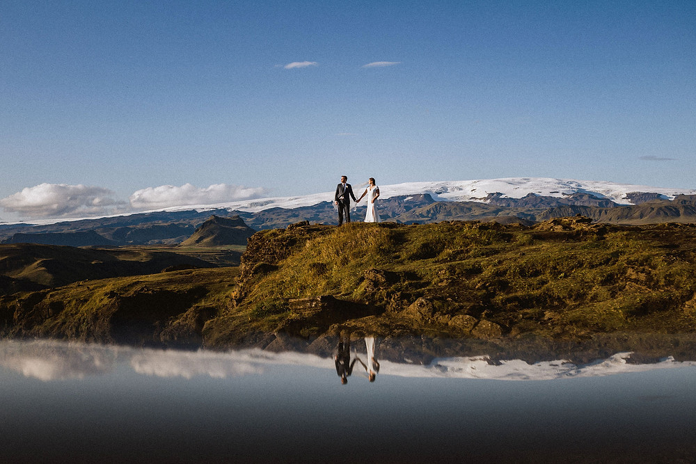 Destination wedding by Pink Iceland in South Iceland
