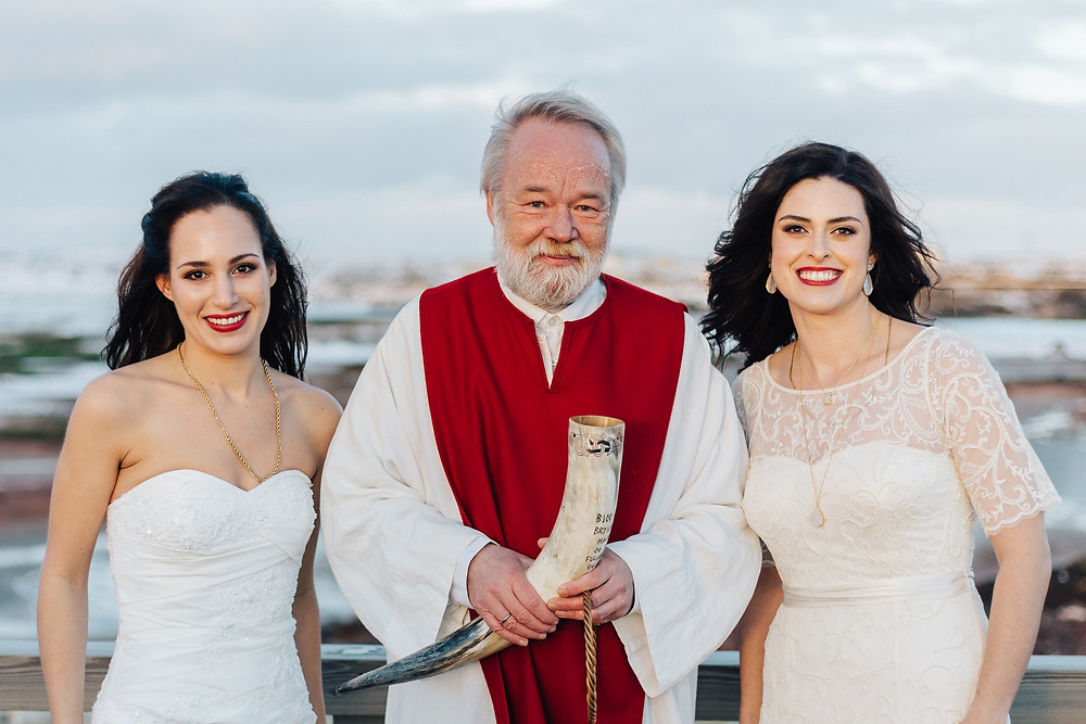 Nordic chieftain wedding ceremony in Iceland