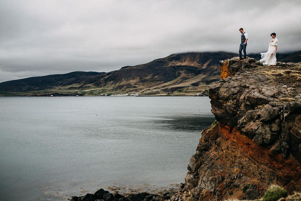 Glymur waterfall wedding in Iceland