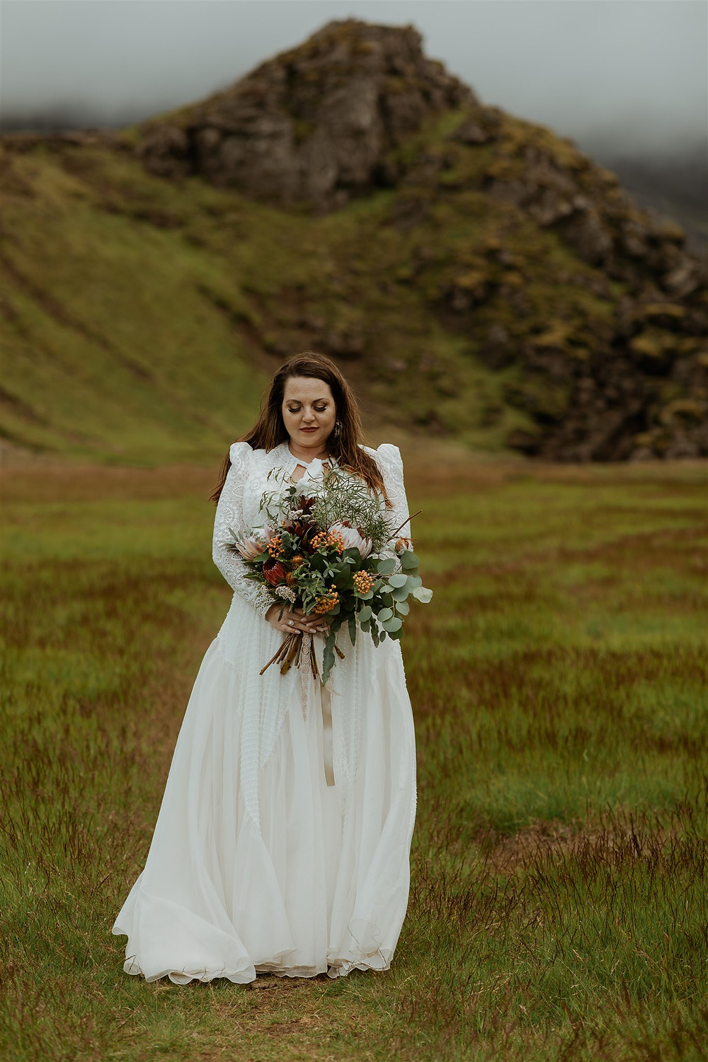 Beautiful Iceland Wedding bouquet