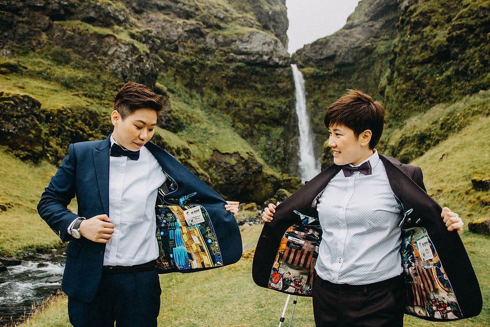 Same Sex Wedding ceremony in Iceland