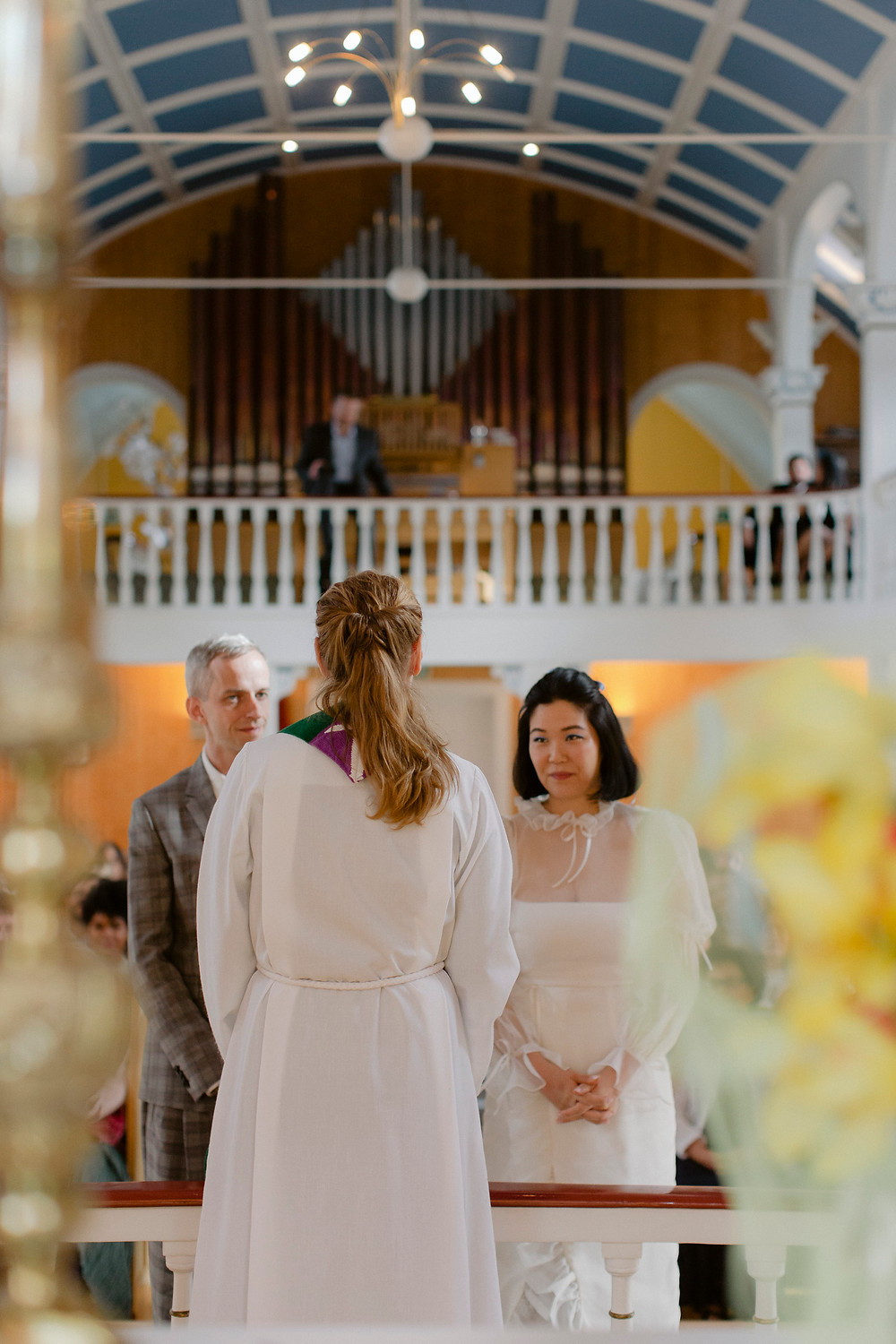 Iceland Wedding photo from the Blue Church in Seydisfjordur by Everbay Studio