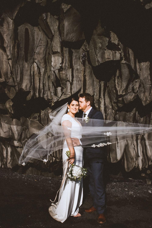Reynisfjara beach Wedding photo by Kristin Maria photographer