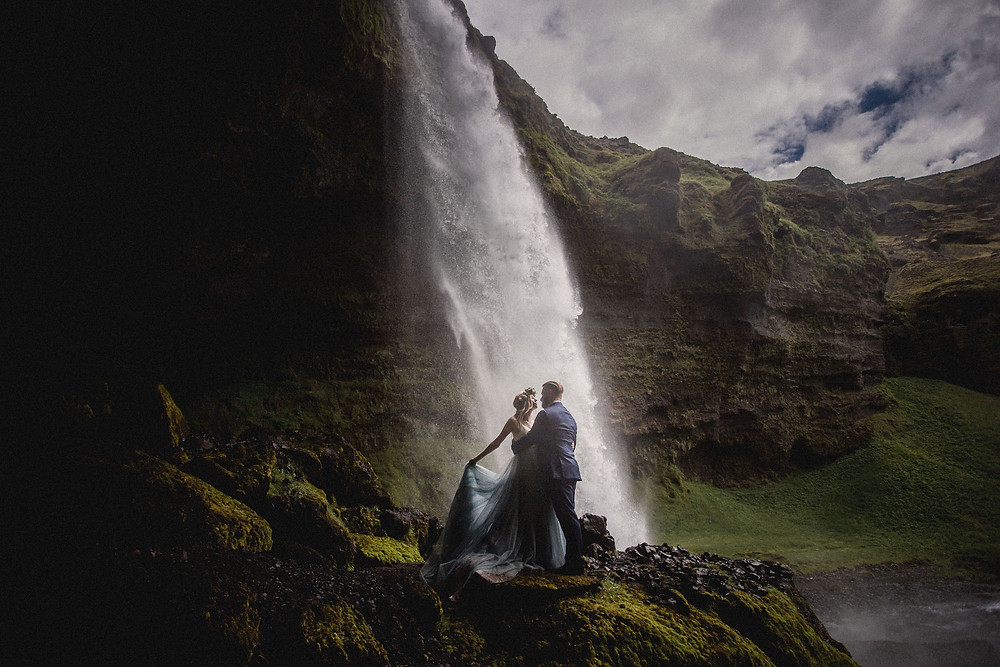 Summer solstice wedding in Iceland