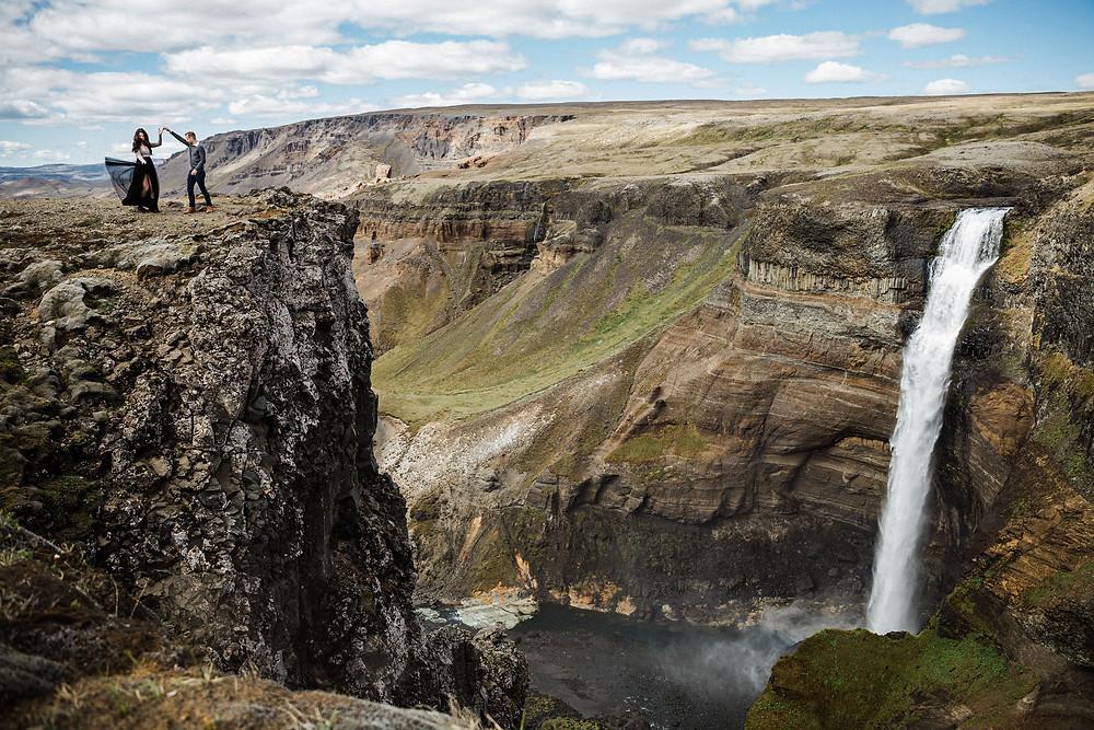 Iceland Wedding Ceremony location Haifoss