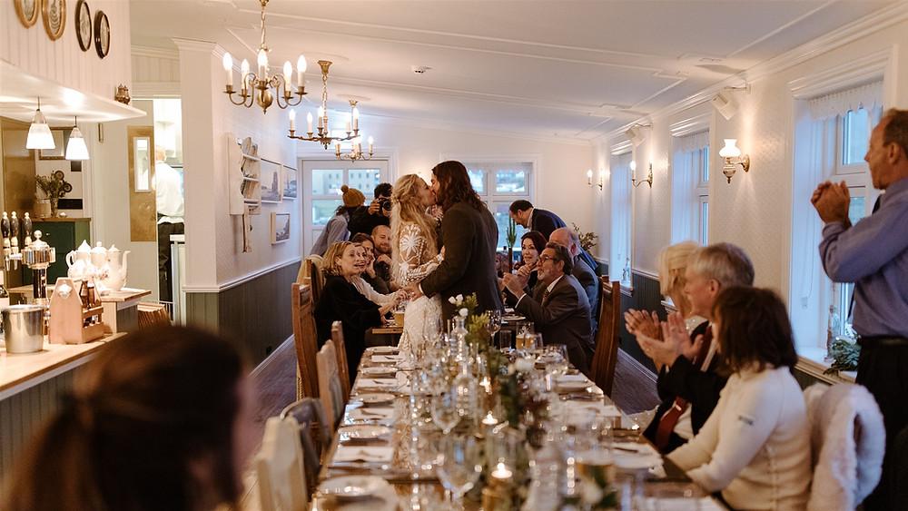 Iceland Wedding reception in Grundarfjordur