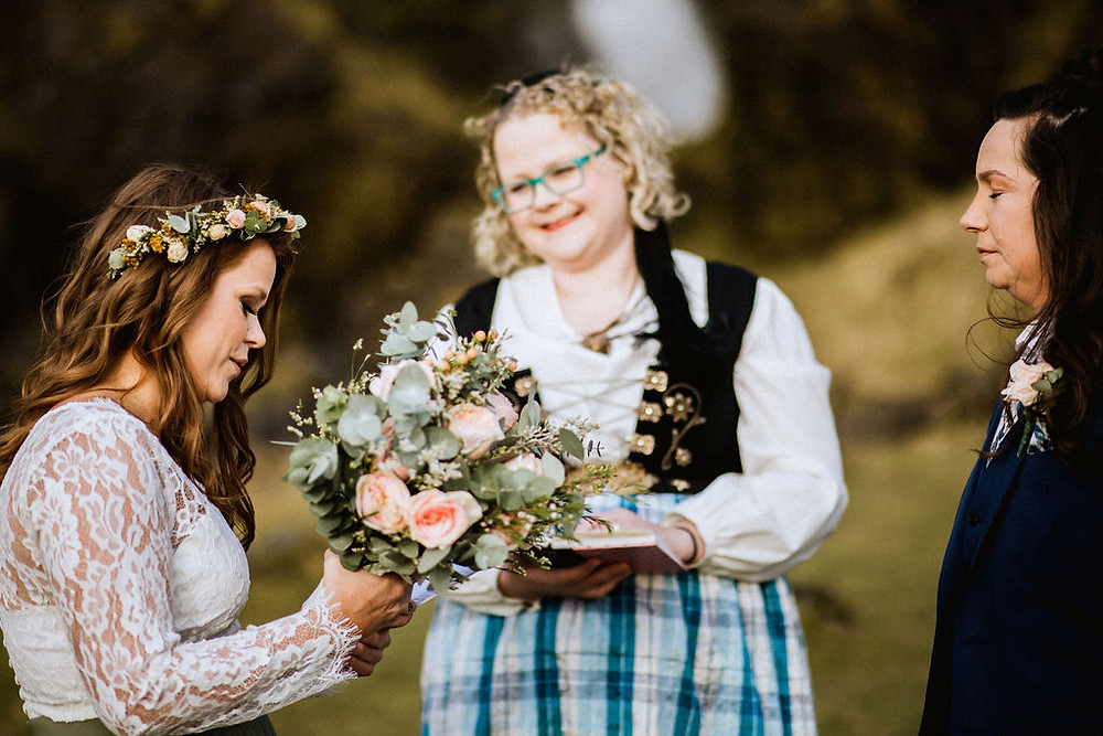 Lesbian Elopement by Pink Iceland Wedding planner
