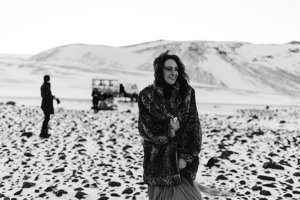 Into the glacier wedding in Iceland