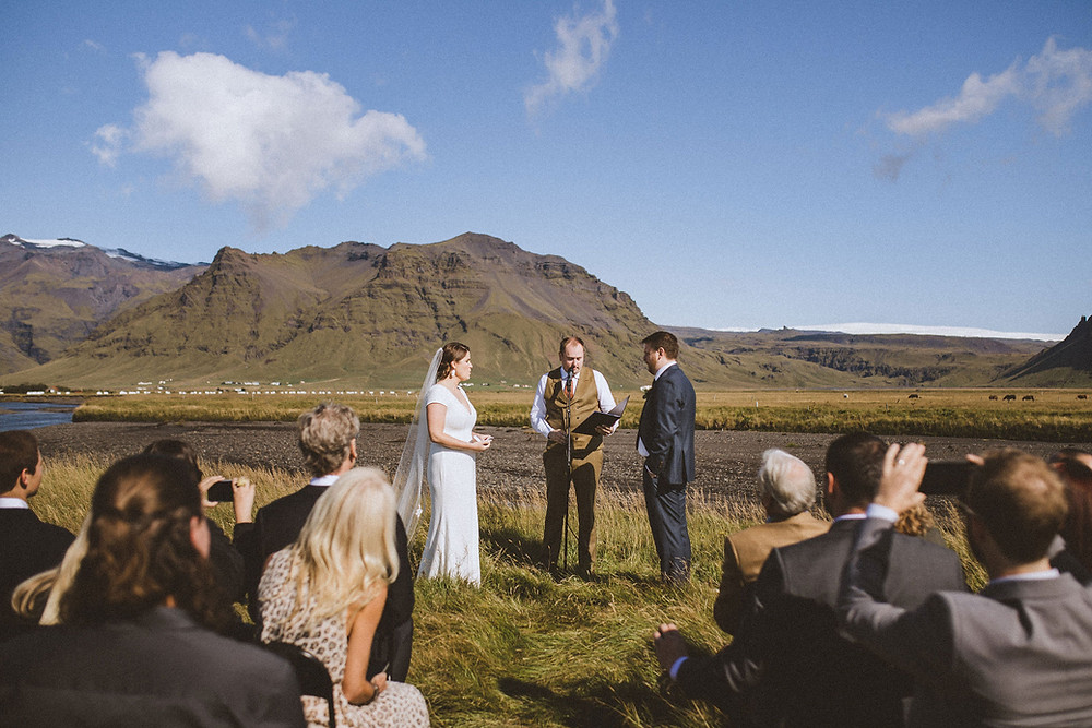 Iceland Wedding ceremony in South Iceland planned by local Iceland Wedding planner Pink Iceland