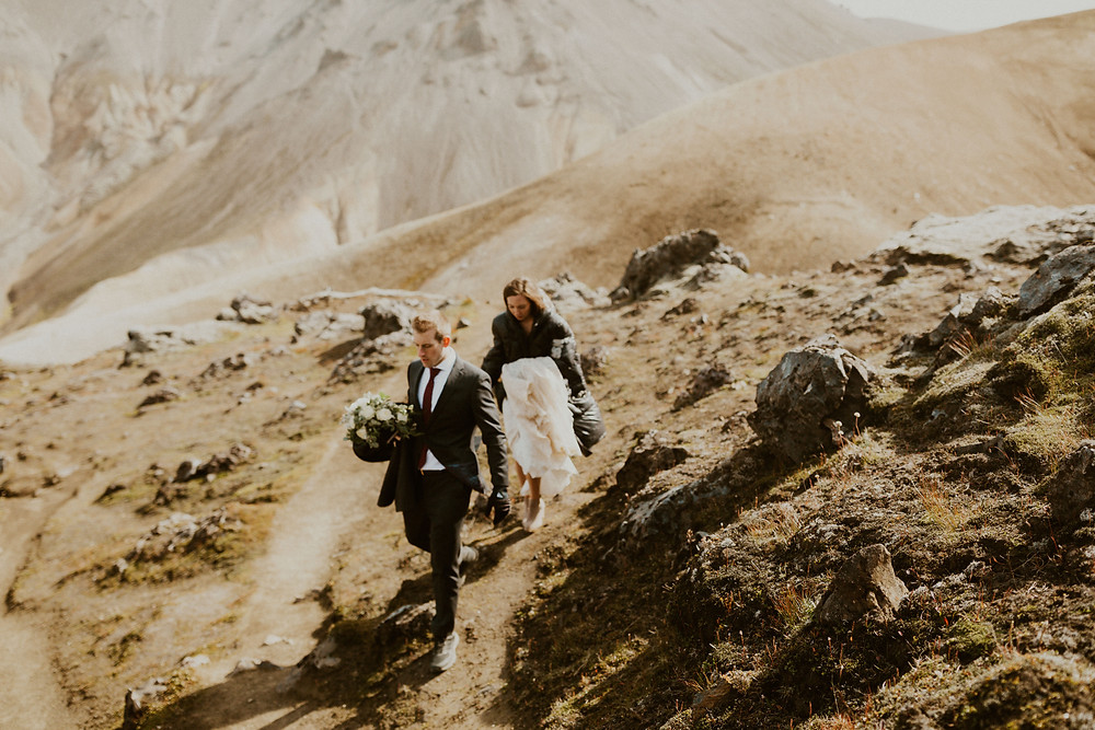 Wedding photos in Landmannalaugar Iceland