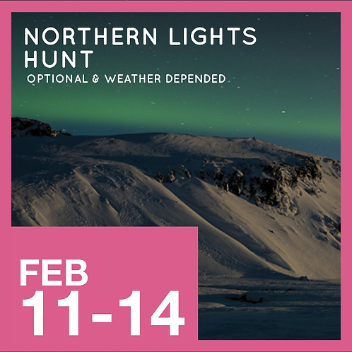 Northern Lights. Weather permitting