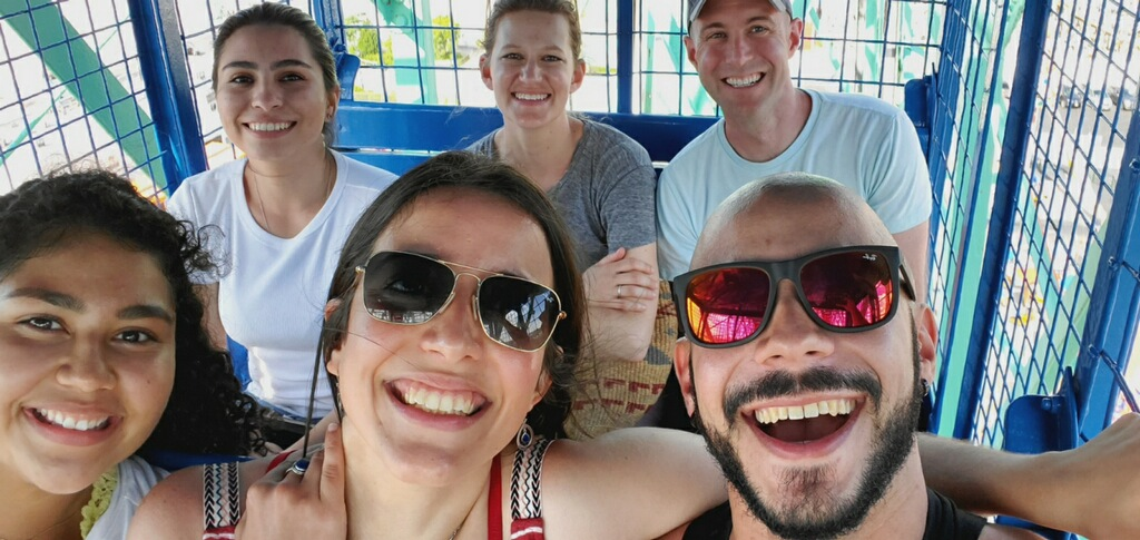 Most of the lab on the ferris wheel