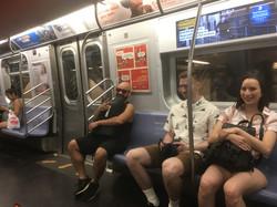 Bruno, Joey, and Margarita on the train