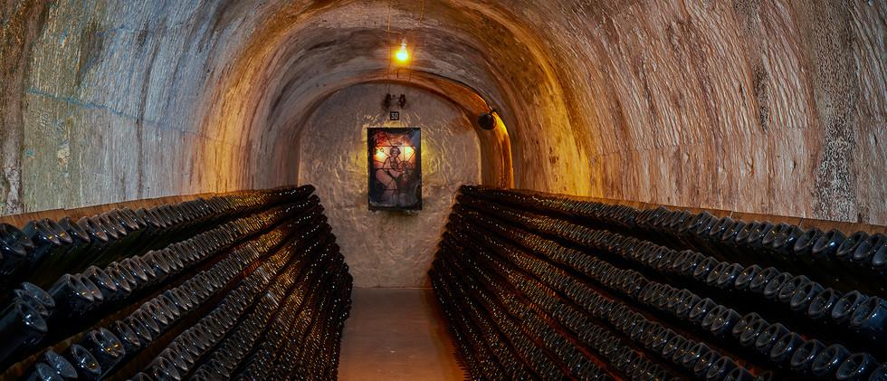 Champagne Canard's cellar