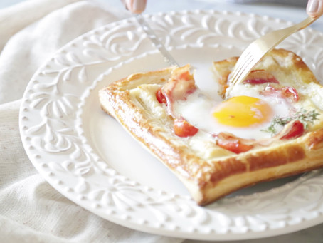 Tomato Pancetta Egg Tart