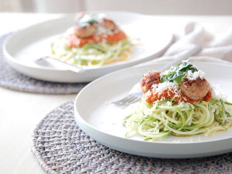 Turkey Marinara Zucchini Pasta