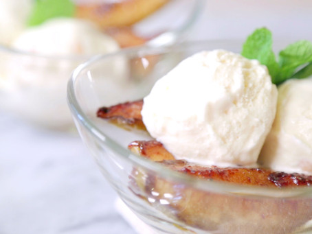 Caramelized Pears & Macadamia Brittle Ice Cream