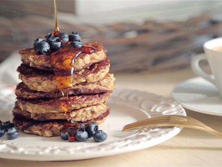 Non Flour Pancakes (Banana, Oats & Almond Milk)