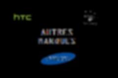Logo Smartphone toutes marque ecriture blanche sur fond noir