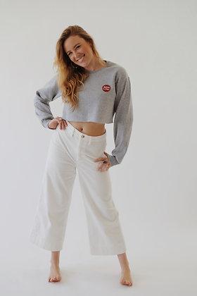 heather grey crop sweatshirt