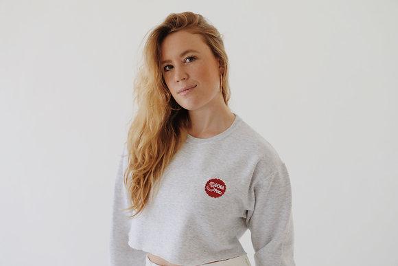 ash grey crop sweatshirt