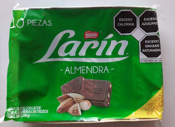 CHOCOLATE LARIN ALMENDRA