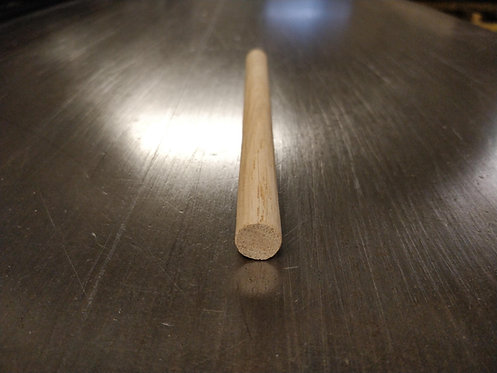 Prime European Oak Dowel Pole 12 mm