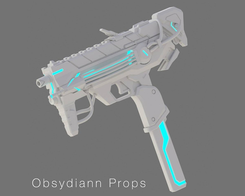 Sombra Machine Pistol 3D Model by Obsydiann Props