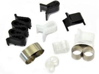 Т-образный пластиковый зажим, белый, 10*9*13 мм- 100 шт