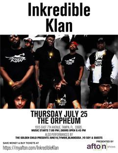 InkredibleKlan @ The Orpheum July 25th