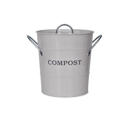 Cubo compost blanco