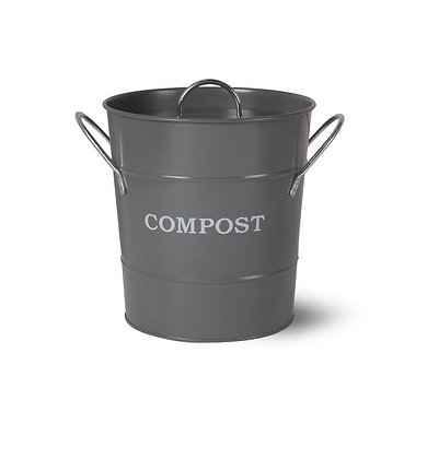 cubo compost gris oscuro