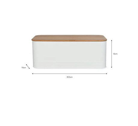 Caja organizadora con tapa de bambú