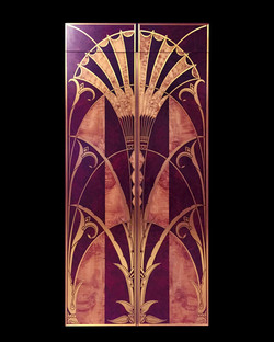 Art Deco Library Doors