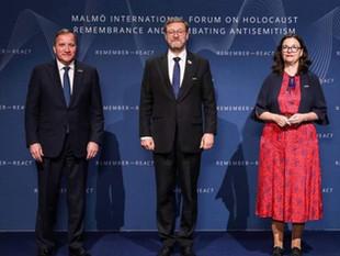 Зампредседателя СФ ФС РФ К.И.Косачев участвует в форуме памяти жертв Холокоста, Мальмё, 13.10.2021