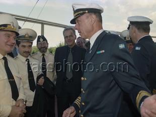 Svenske Marinchefen på besök i Kaliningrad den 19 augusti 1999