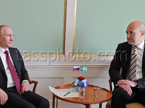 Rysslands Premiärminister Vladimir Putin på besök i Sverige den 27 april 2011