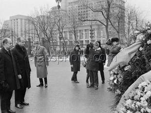 Sveriges utrikesminister Krister Wickman på besök i Sovjetunionen den 9-11 februari 1971