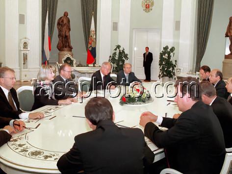 Möte av Rysslands President Vladimir Putin och Sveriges statsminister Göran Persson 27.9.2000