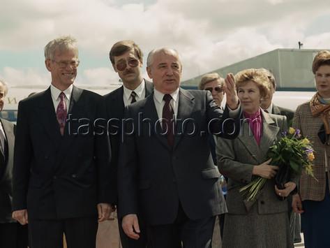 Sovjetunionens President Michail Gorbatjov i Sverige den 6 juni 1991