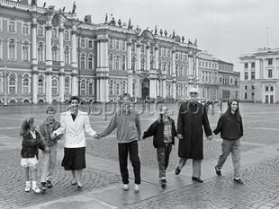 Den svenska prinsen Lennart Bernadotte på besök i Leningrad den 5 juni 1990
