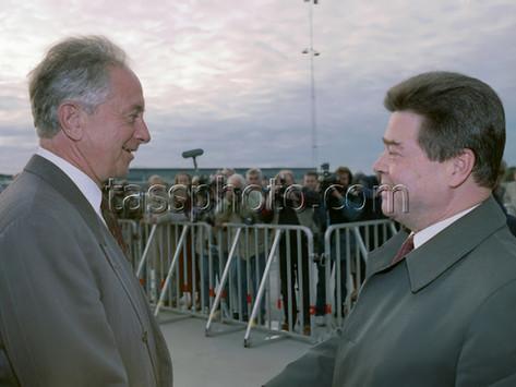 Sovjetunionens utrikesminister Boris Pankin på besök i Sverige den 17 oktober 1991